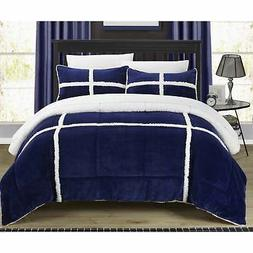 Chic Home 3-Piece Chiron Mink, Sherpa Lined Comforter Set,