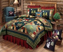 C & F Enterprises Timberline Collection Quilt, 64 by 86-Inch