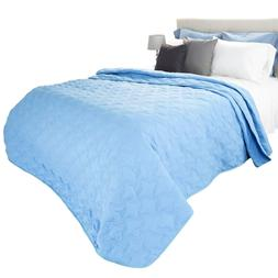 Lavish Home Lightweight Quilted Blanket Color Choice Full Qu