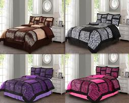 Empire Home Animal Print 4PC. Comforter Set With Pillow Sham