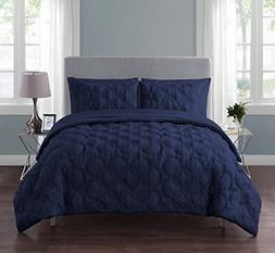 VCNY Home Atoll Embossed 7 Piece Bed-in-A-Bag Comforter Set,