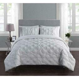 VCNY Home Atoll Embossed 7-Piece KING Comforter Set  White B