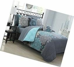 Avondale Manor 9-Piece Amber Quilt Set, King, Aqua
