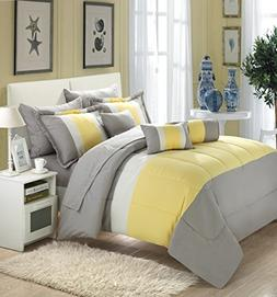 10-piece Comforter Bed in a Bag Set with Sheets Bedding Quee