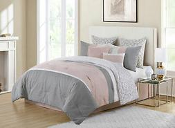Vcny Home Blush 8 Piece Queen Comforter Set