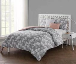 VCNY Home Brynley 5 Piece Comforter Set, King, Grey