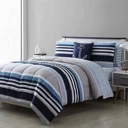 VCNY Home Cambridge Queen Comforter Set in White/Blue
