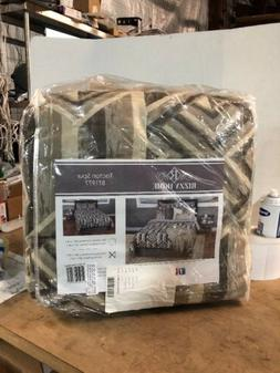 Rizzy Home CFSBT1977GYBE1692 Comforter Set, Grey, King=