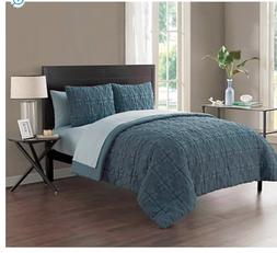 VCNY Home Classic Embossed 7 Piece Bed-in-a-Bag Comforter Se
