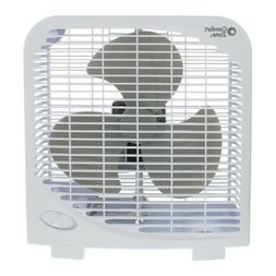 Comfort Zone CZ9BWT Portable 9 inch Box Fan 2-Speed Quiet Op