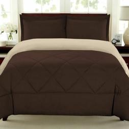 Sweet Home Collection 3 Piece Comforter Set, King, Chocolate