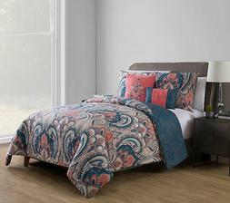 Vcny Home Coral 4 Piece Twin Xl Comforter Set