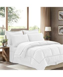 Sweet Home Collection Dobby Embossed Queen 8-Pc Comforter Se