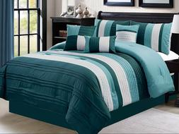 Empire Home 7 Piece Solid Elegant Stripped Oversized Comfort