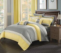 Chic Home 10 Piece Falcon Bed in a Bag Comforter Set, Queen,