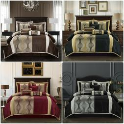 Lanco Home Kathy Brown 7-Piece Comforter Set Bedding Sizes C