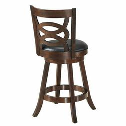 """Home Kitchen Dining Chairs 24"""" Swivel Stool Upholstered Comf"""