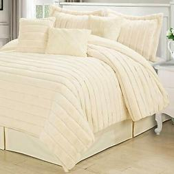 Home Soft Things Serenta Rabbit Faux Fur 7 Piece Comforter S