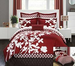 Chic Home 7 Piece Iris Reversible Large Scale Floral Design