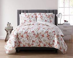 VCNY Home Jasmine Floral Reversible 5 Piece Bedding Comforte