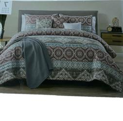 VCNY Home KING Quilt Comforter Set Cairo 7-Pc Reversible