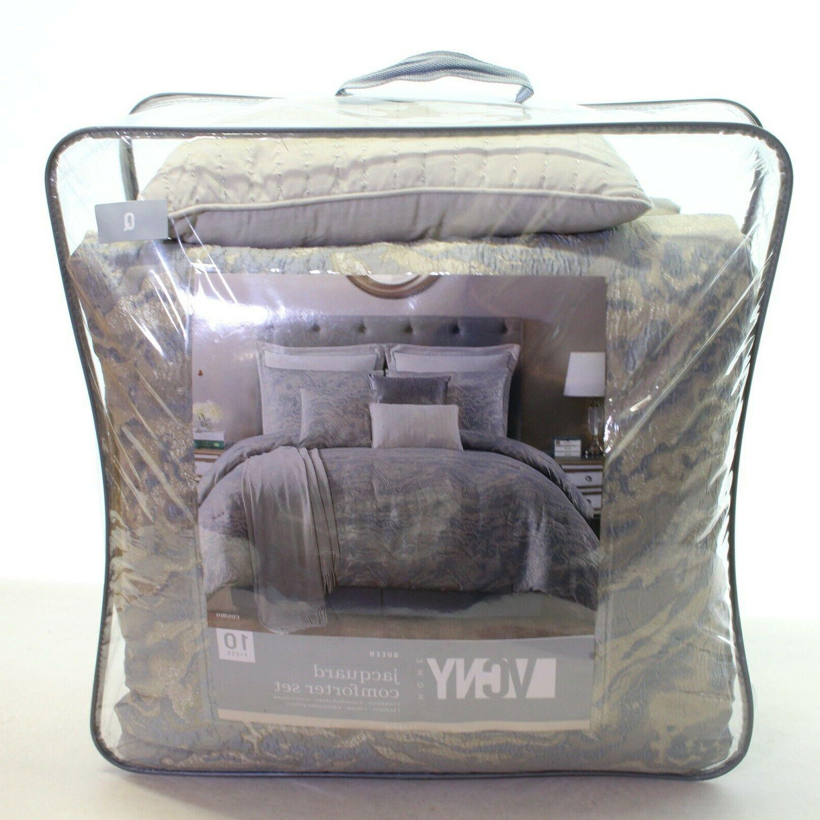 VCNY Home 10 Piece QUEEN Comforter Slate L96112
