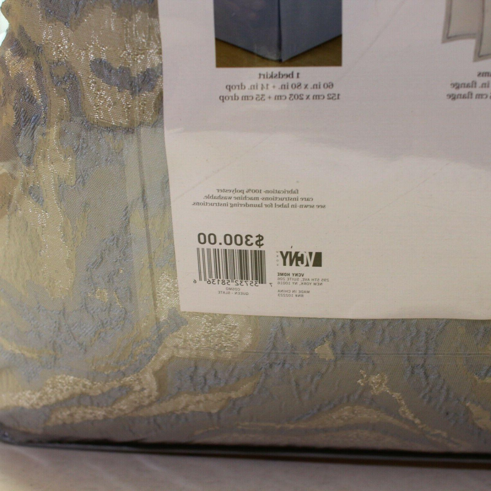 VCNY Home 10 Piece QUEEN Set Cosmo Slate Grey
