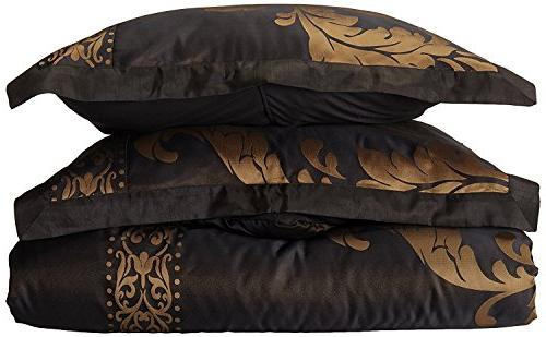Chezmoi Collection 7-Piece Floral Comforter King, Black