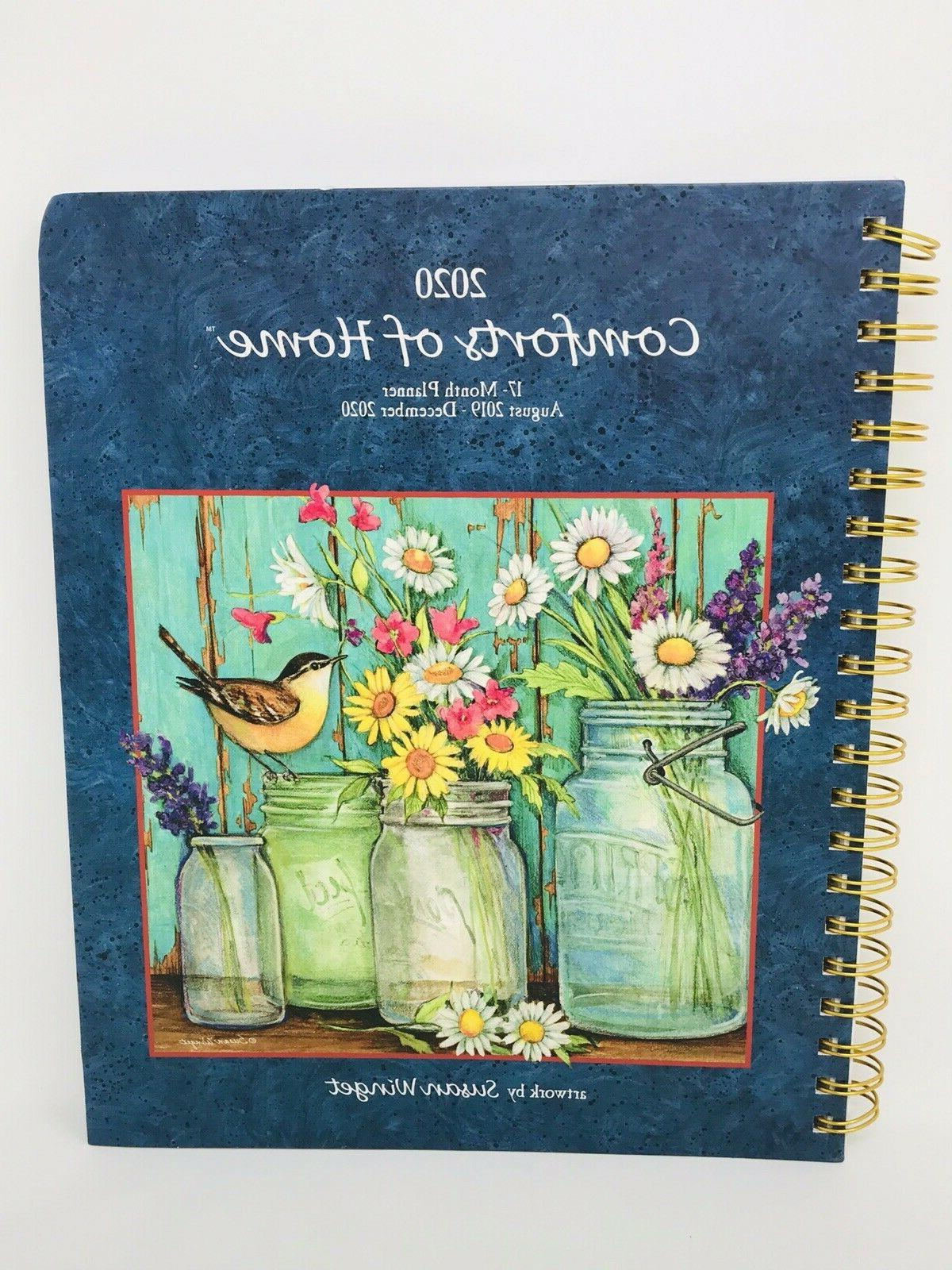comforts of home 17 month planner august