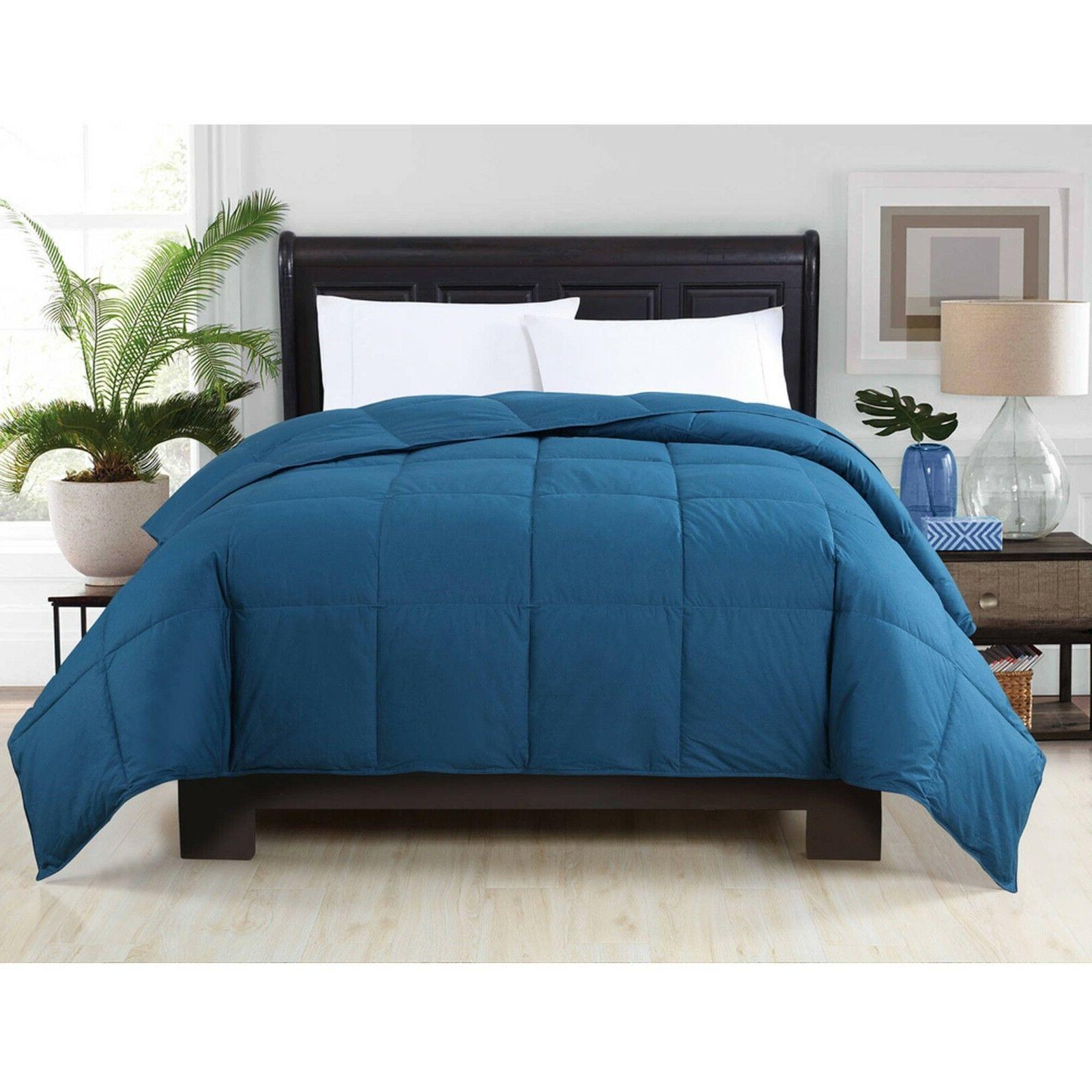 VCNY Box Stitched Comforter Cotton - - TWIN