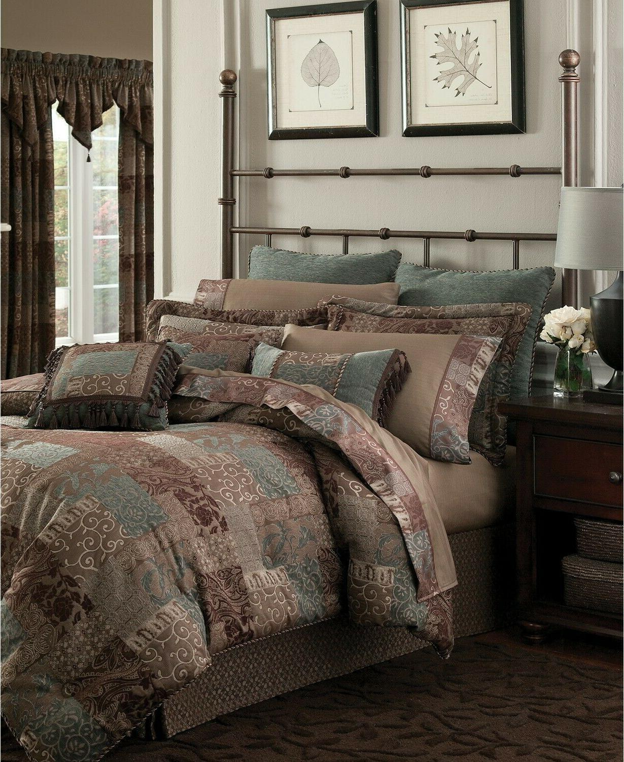 galleria brown queen comforter set