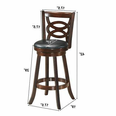 """Home Kitchen Chairs 29""""Swivel Upholstered Seat"""