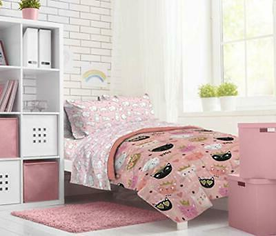 Jay Franco Purrrfect 4 Piece Twin - Includes Sheet -