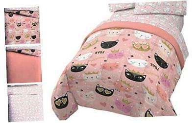 jay franco purrrfect 4 piece twin bed