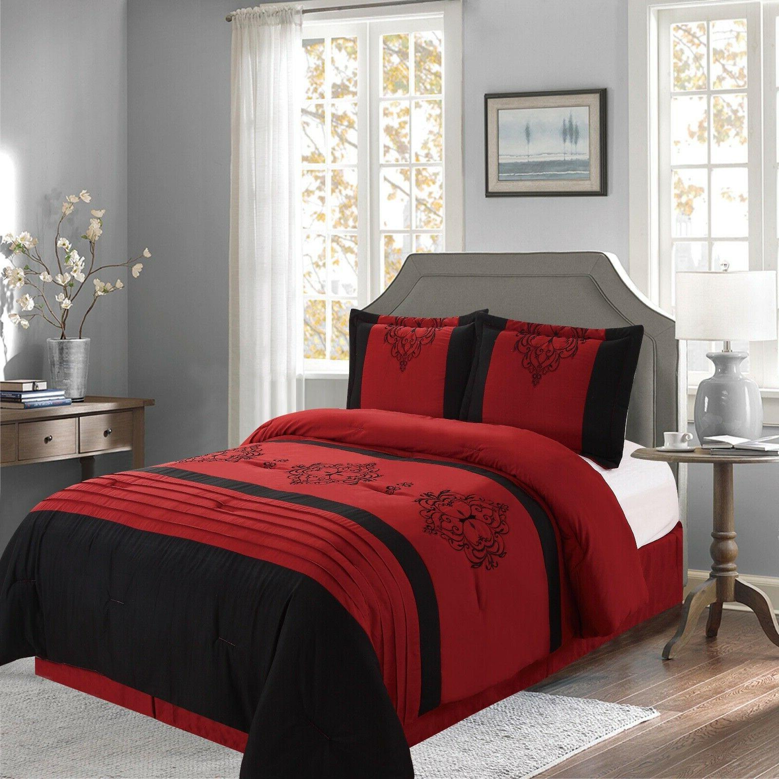 new empire home red heba damask 4