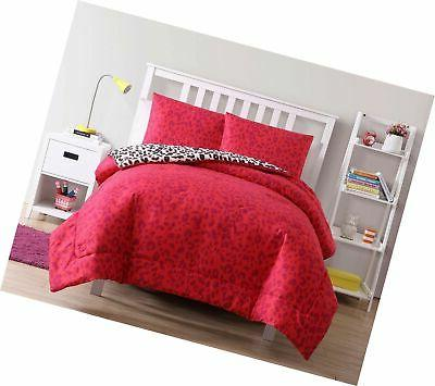 VCNY Home Nikki Floral Leopard Piece Bedding Full...