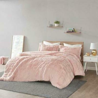 polyester back solid shaggy long fur comforter