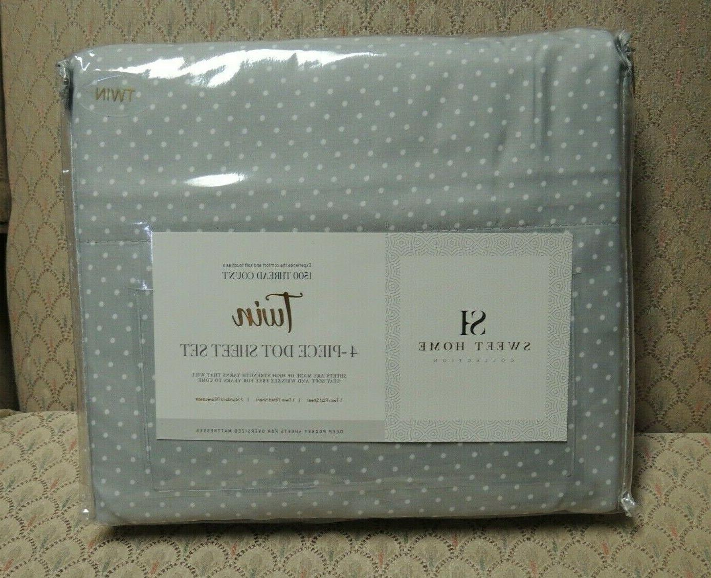 twin 1500 thread count 4 piece dot
