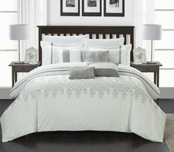 Chic Home Laura Embroidered Oversized Overfilled Comforter S
