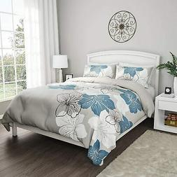 "Lavish Home Collection 3-Piece Comforter and Sham Set – ""E"