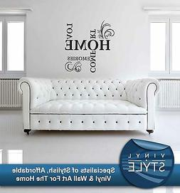 LOVE HOME COMFORTS MEMORIES WALL STICKER WALL ART QUOTE VINY
