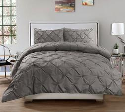 Sweet Home Collection 3 Piece Luxurious Pinch Pleat Comforte