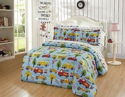 Luxury Home Collection Kids/Toddlers/Boys 5 Piece Twin Size
