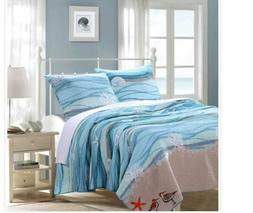 Greenland Home Fashions Maui Coastal Cotton Three Piece Quil