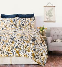 Natural Home 3 Pc Quilt Set-King or Queen Comforter+2 Shams-