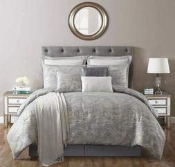 **NEW!!**VCNY Home Cosmo 10PC King Comforter Set Blue Silver