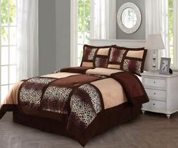 New Empire Home Brown Safari Damask 4-Piece Comforter Set Be