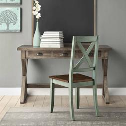 Set of 2 Dining Chairs Solid Wood Comfort Home Kitchen Break