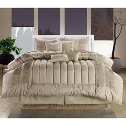 Chic Home 8-Piece Seville Embroidered Comforter Set, Queen,