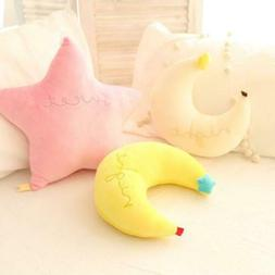 Star Moon Shape Children Plush Toys Soft Comfort Cushions Pi